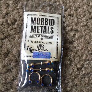 Morbid Metals Jewelry - Nipple rings